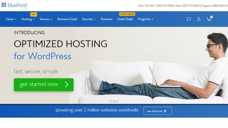 Bluehost hosting - www.techactive.in