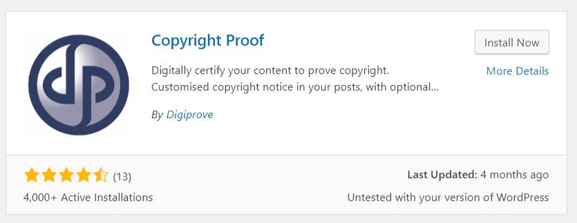copyright proof